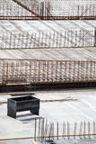 Construction site concrete steel Stock Images