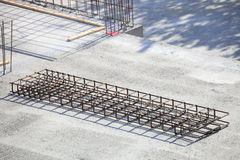 Construction site concrete steel Royalty Free Stock Photos