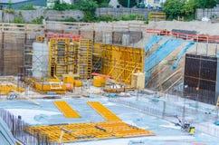 Construction Site, Concrete work Stock Photo