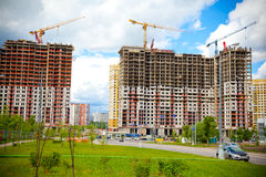 The construction site. Construction of the new building Royalty Free Stock Image
