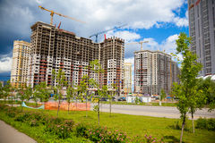 The construction site. Construction of the new building Royalty Free Stock Photography