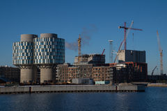 Construction site in Copenhagen Harbour, Denmark Stock Photography