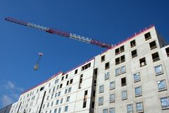 Construction site with crane Stock Image