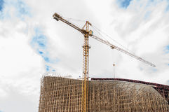 Construction site with crane. And building Stock Photo