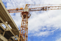 A construction site with a crane Royalty Free Stock Photography