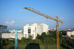 Construction site with crane Stock Photography
