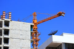 Construction site with crane Royalty Free Stock Photos