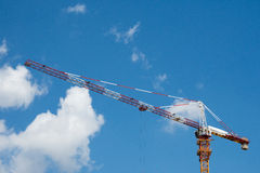 Construction Site with Crane Stock Images