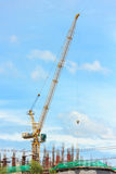 Construction Site and Crane Royalty Free Stock Images