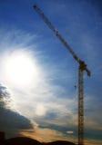 Construction site crane and blue sky Stock Photos