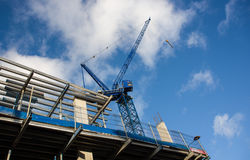 Construction site with crane and building Royalty Free Stock Photos