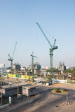 Construction site with crane and building Stock Image