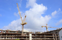 Construction site with crane Royalty Free Stock Photo