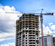 Construction site. Crane and building Stock Photo