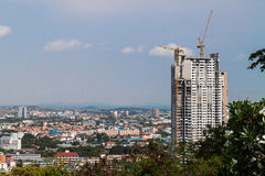 Construction site with crane and building Royalty Free Stock Photography