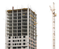 Construction site with crane and building Royalty Free Stock Images