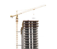 Construction site with crane and building Stock Photography