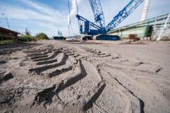 Construction site with crane Stock Photos