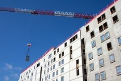 Construction site and crane jib Stock Image