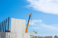 Construction site with a crane Stock Photo