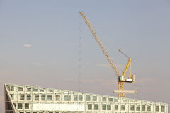 Construction site with crane Royalty Free Stock Photography