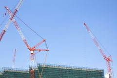 Construction site with crane Royalty Free Stock Images