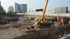 Construction site crane stock video