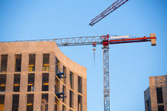Construction site with crane. Stock Image