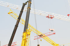The construction site cranes Royalty Free Stock Photography