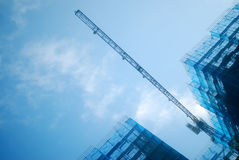 Construction site and cranes Royalty Free Stock Photography