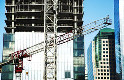 Construction site with cranes. Royalty Free Stock Photography