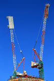 Construction site with cranes Royalty Free Stock Photo