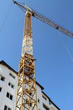 Construction site with cranes on sky background. Photo Stock Photography
