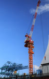 Construction site with cranes. On sky background Royalty Free Stock Image