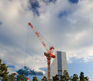 Construction site with cranes. On sky background Stock Photos