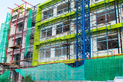 Construction site with cranes Stock Photos