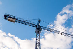 Construction site with cranes Stock Images