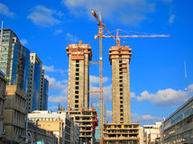 Construction Site Cranes Royalty Free Stock Photography