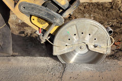 Construction site, cut tool stock photography