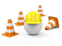 Construction site. 3d generated picture of a construction site concept stock illustration