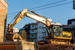 Construction site during the demolition of a house Stock Photography