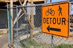 Construction Site Detour Royalty Free Stock Images
