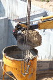 Construction site digger, excavator Royalty Free Stock Images