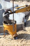 Construction site digger, excavator Royalty Free Stock Image