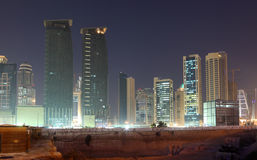 Construction site in Doha Royalty Free Stock Photo