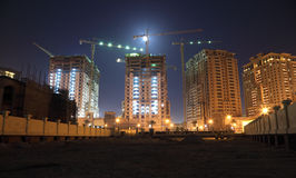 Construction site in Doha Royalty Free Stock Photography