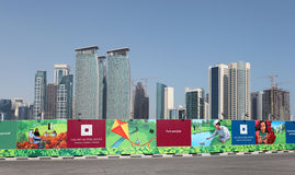Construction site in Doha, Qatar Royalty Free Stock Photos
