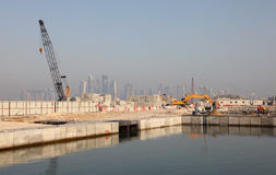 Construction site in Doha, Qatar Stock Photos