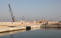 Construction site in Doha, Qatar Stock Photos