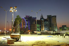 Construction site in Doha, Qatar Stock Image